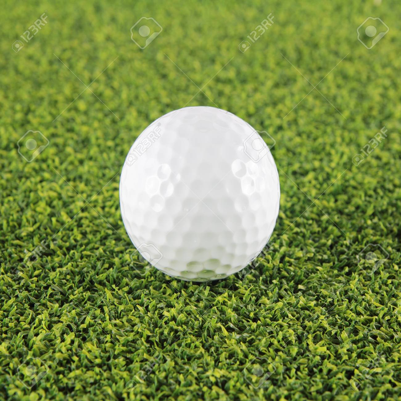 Goft ball on green grass background Stock Photo - 13661614