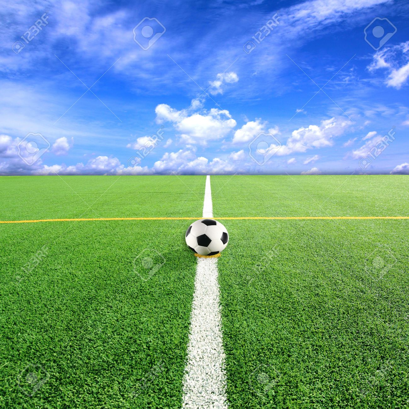 Field And Sky Background With Blue Sky Background