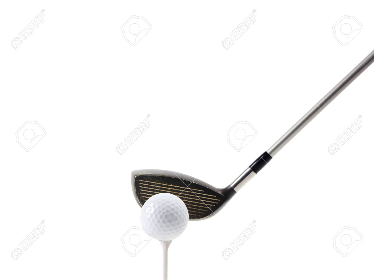 Golf tee off on white, clipping path Stock Photo - 17115243