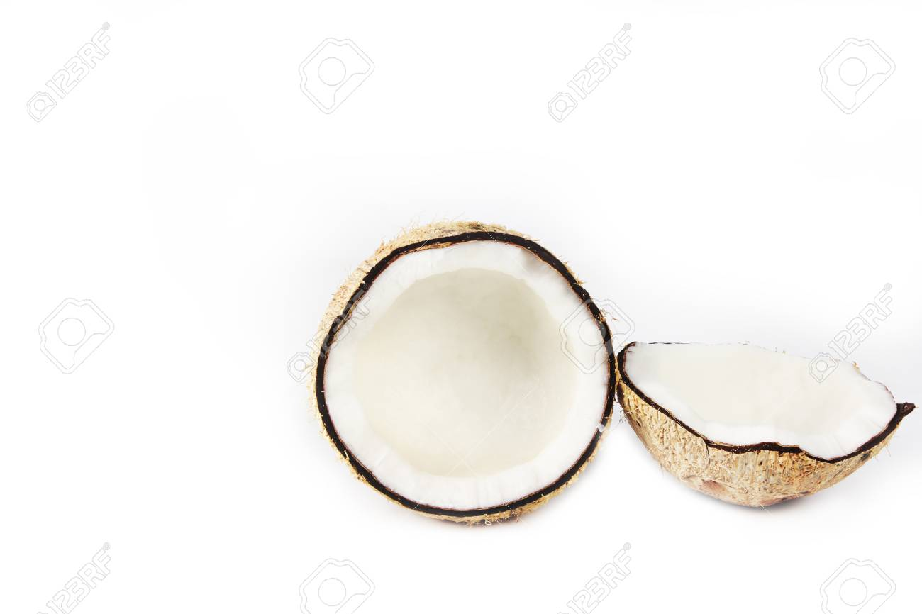 Coconut on white background Stock Photo - 17115271
