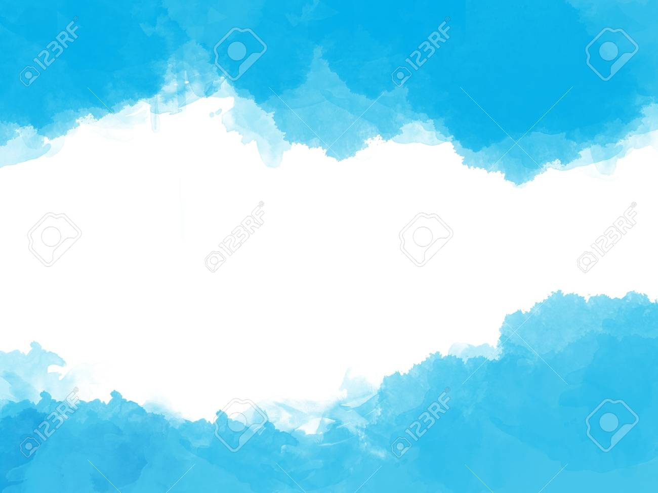 Abstract blue watercolor with space for your text Stock Photo - 17115274