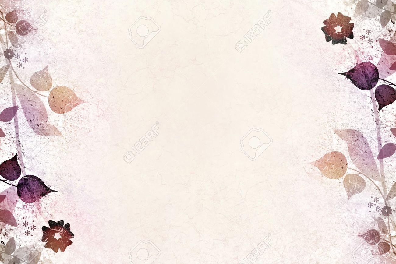 Floral vintage background - Romantic Floral Vintage Background Stock Photo 13156760