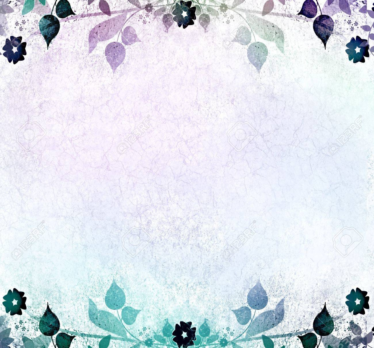 Blue romantic floral background Stock Photo - 13543462