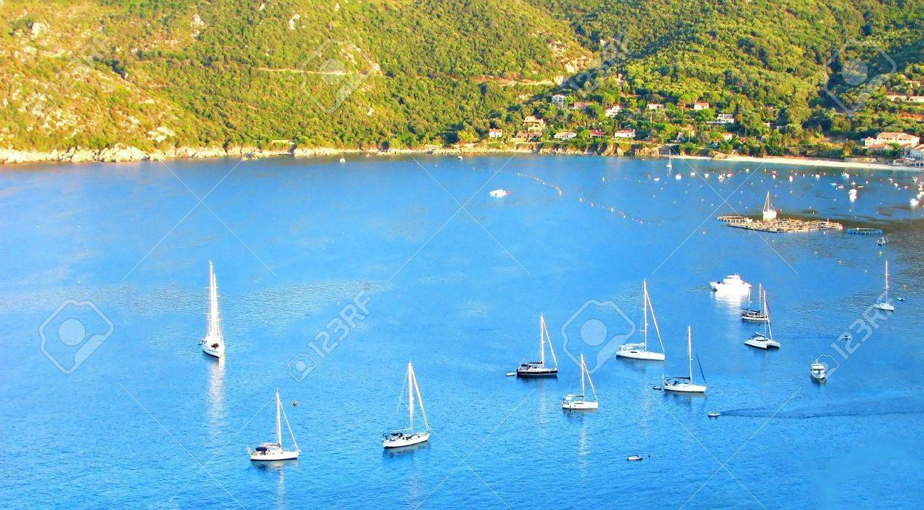 Sailing marina in Campomoro, South of Corsica Stock Photo - 14000140