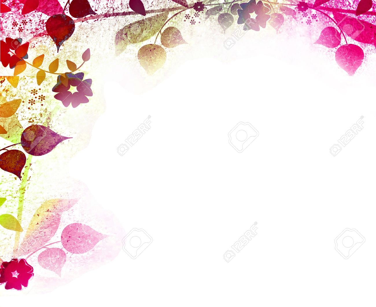 Floral vintage background - Floral Vintage Background Stock Photo 15138197