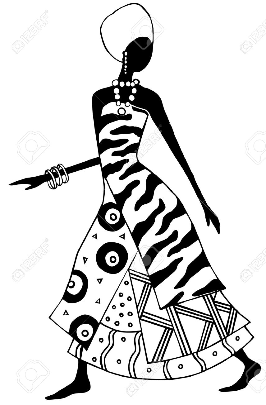 Black And White African Art