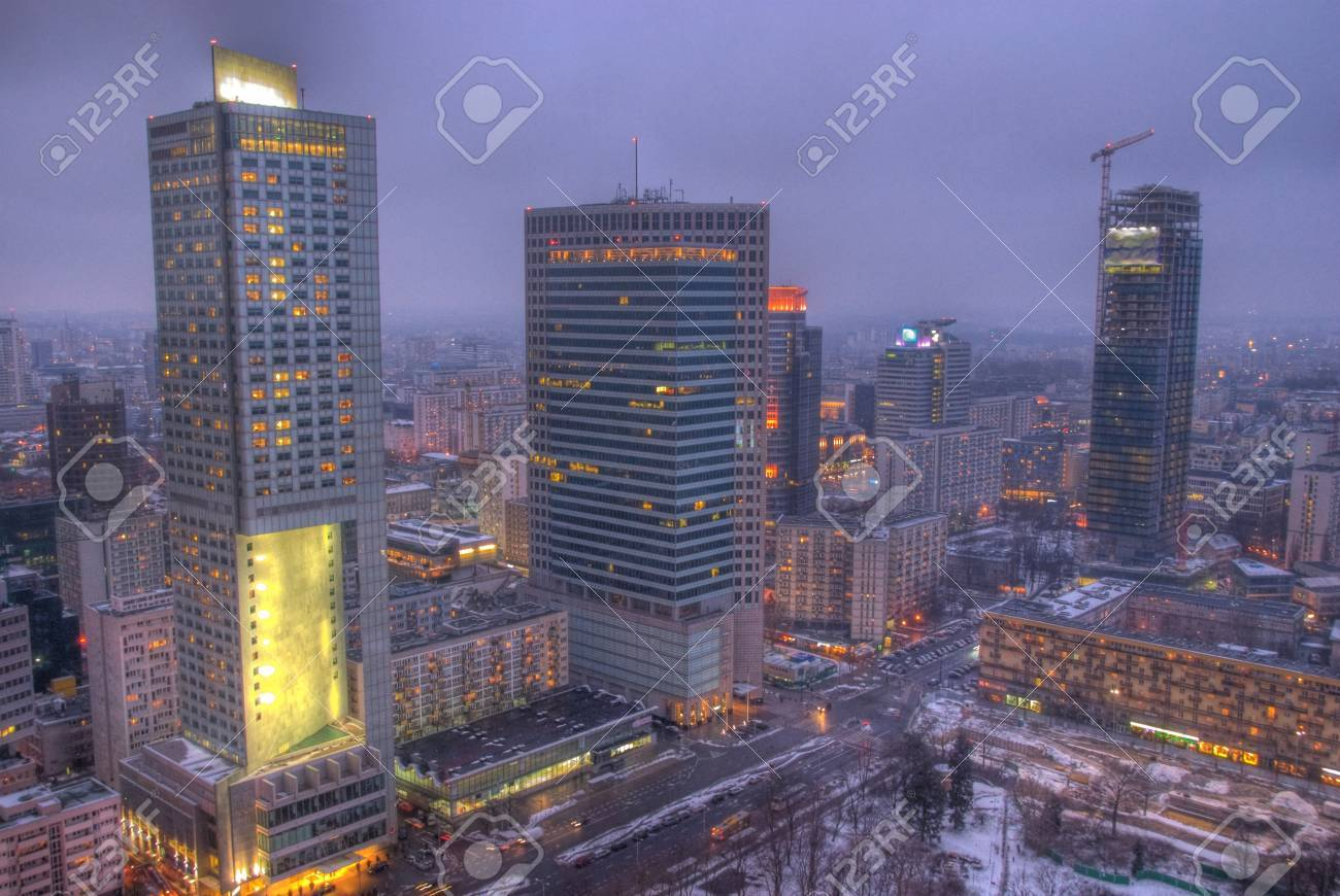 Skyscrapers in Warsaw Stock Photo - 17998116