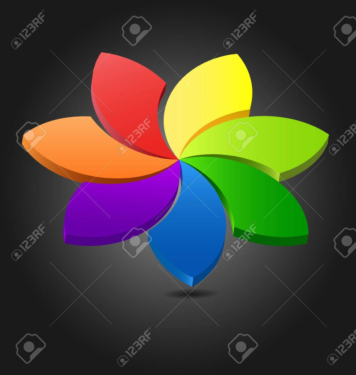 Design Of A 3D Flower Color Creative Wheel