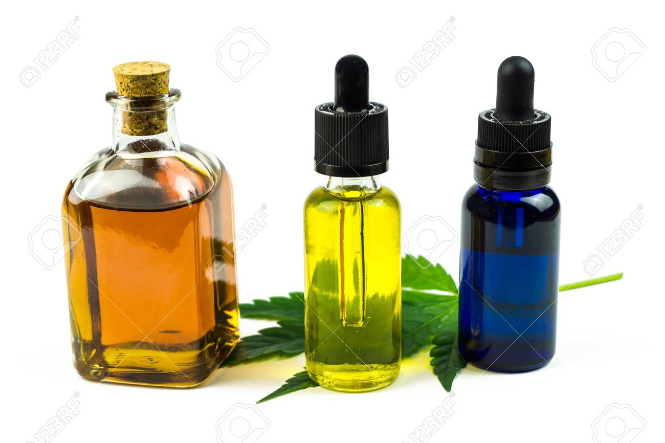 Medicinal cannabis with THC , CBD and hemp seed oil extracts