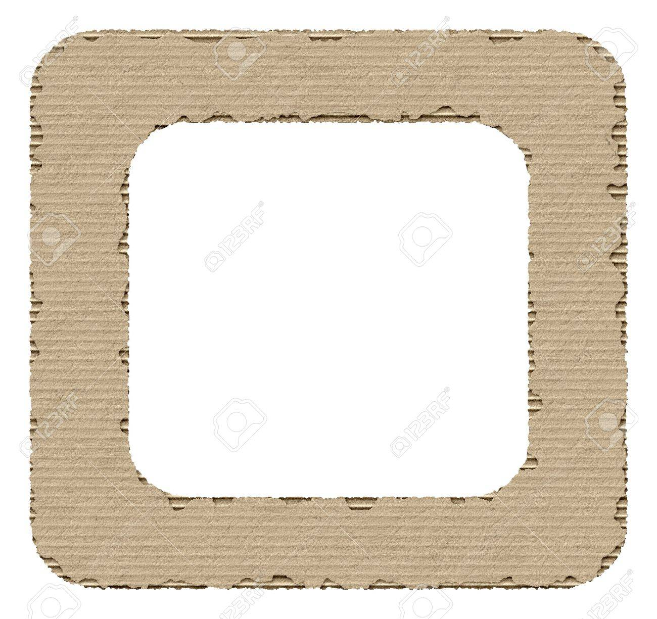 Torn Cardboard Frame Stock Photo, Picture And Royalty Free Image ...