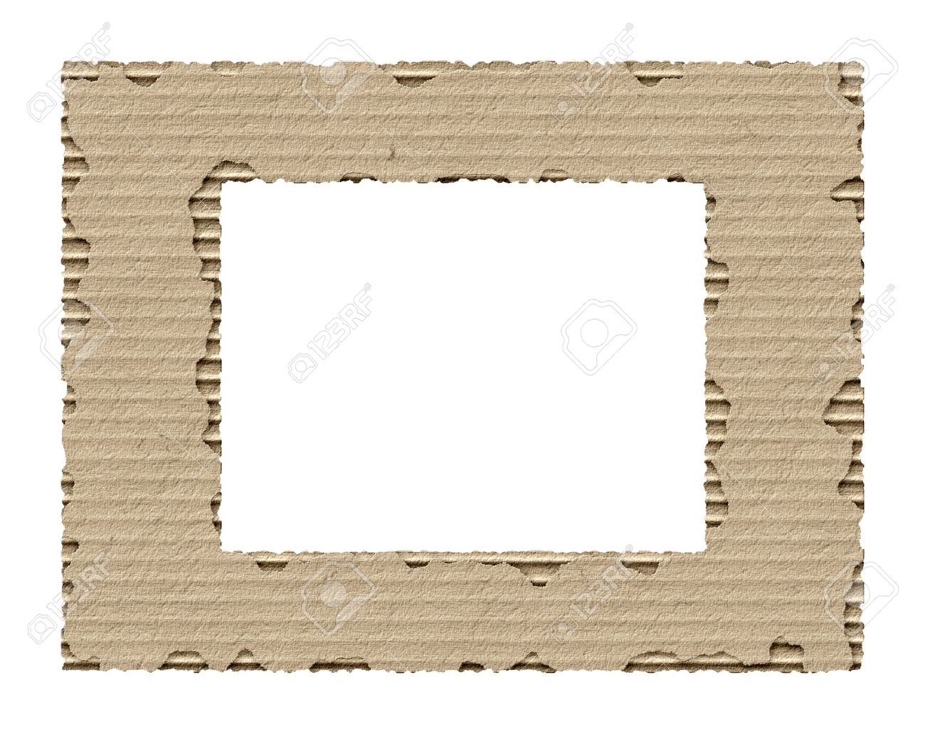 Frame Made From Torn Cardboard Stock Photo, Picture And Royalty Free ...