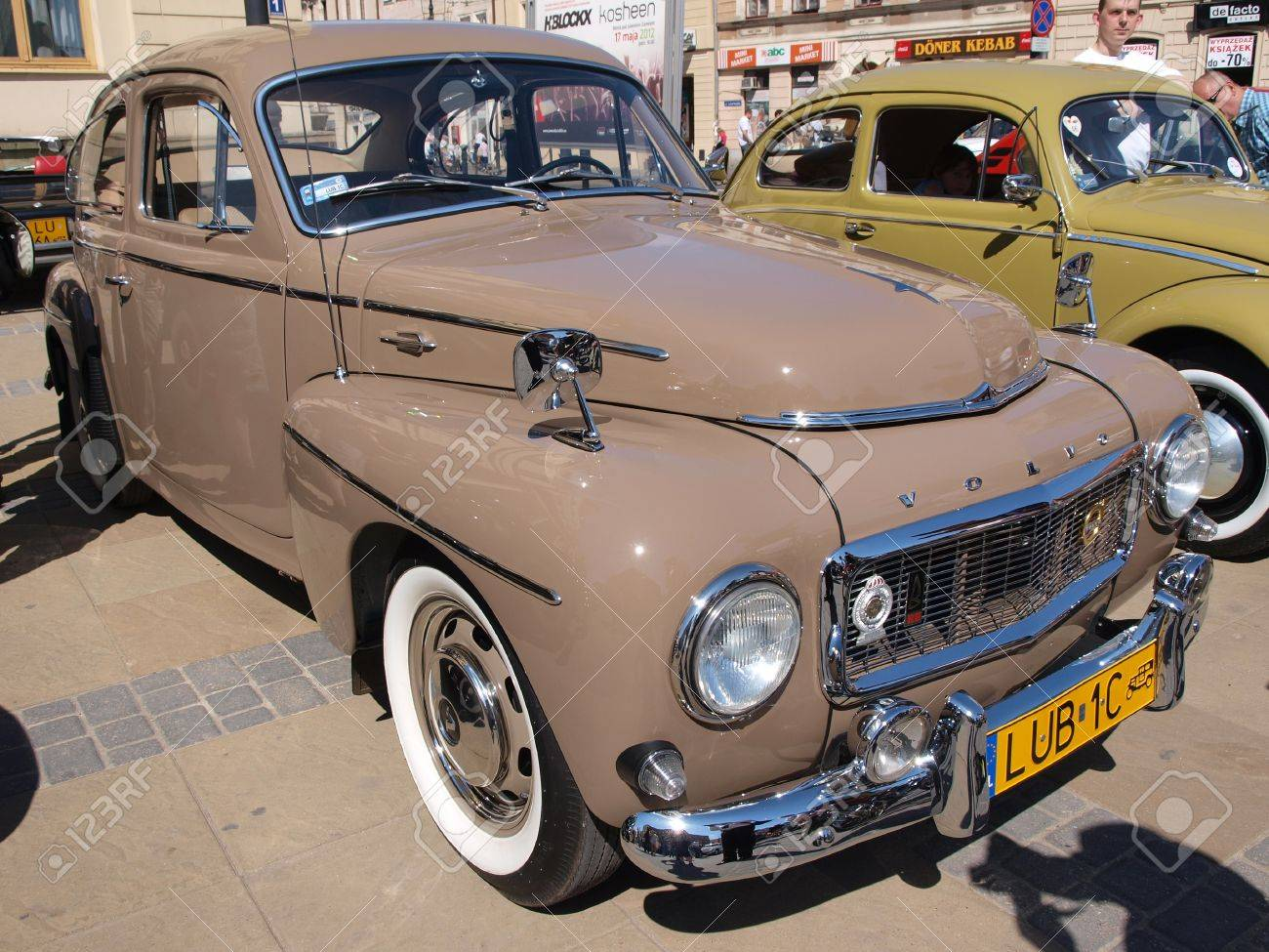Volvo at the exhibition of old cars, Lublin, Poland, April 28th 2012. Stock Photo - 13436821