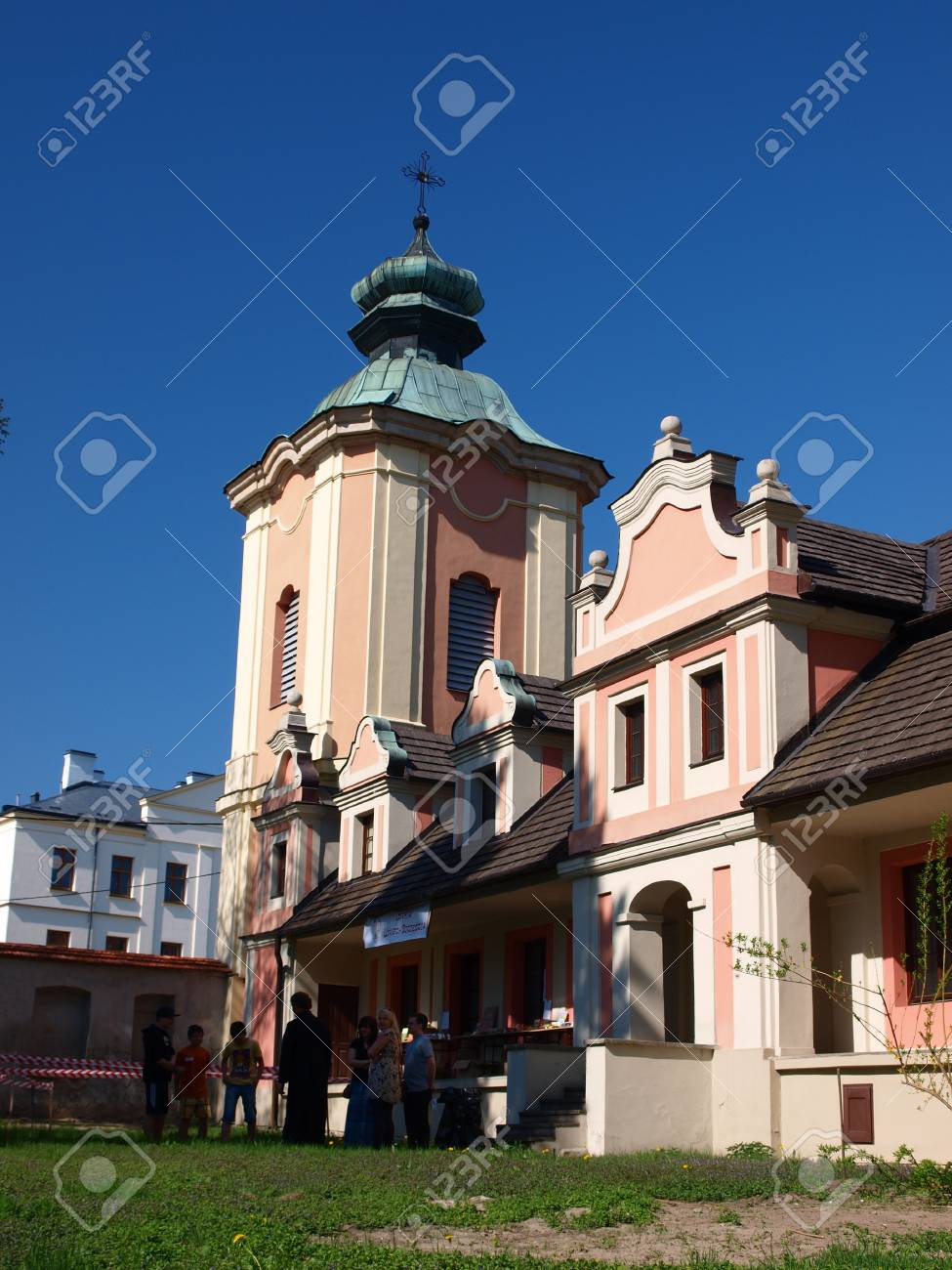 The post-benedictine monastery with the church of St  Michael The Archangel, Sandomierz, Poland, May 1st 2012 Stock Photo - 13512528