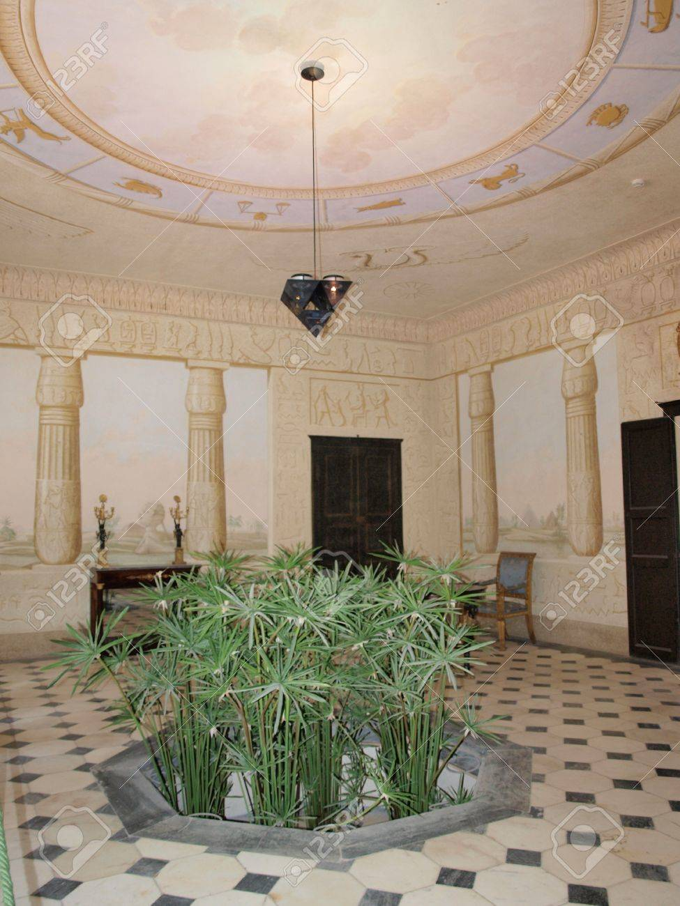 The Egyptian Room At Villa San Martino, Napoleon Bonapartes Private ...