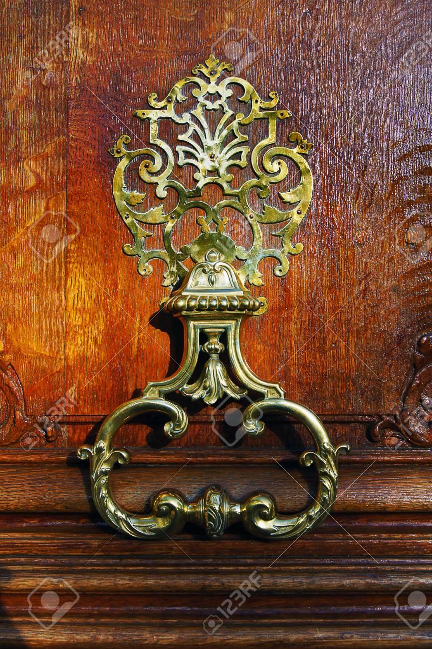photo, jpg, coppr flowery door handle Stock Photo - 17278067