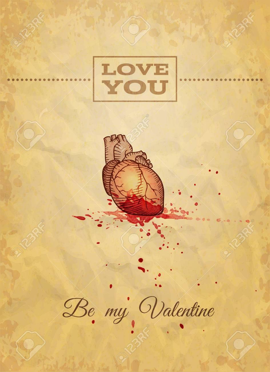 Sea Mi Tarjeta Del Día De San Valentín Con La Anatomía Del Bosquejo ...