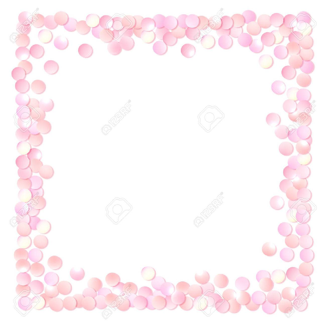 Pink realistic square confetti frame design template for gift pink realistic square confetti frame design template for gift certificate voucher ad yadclub Gallery