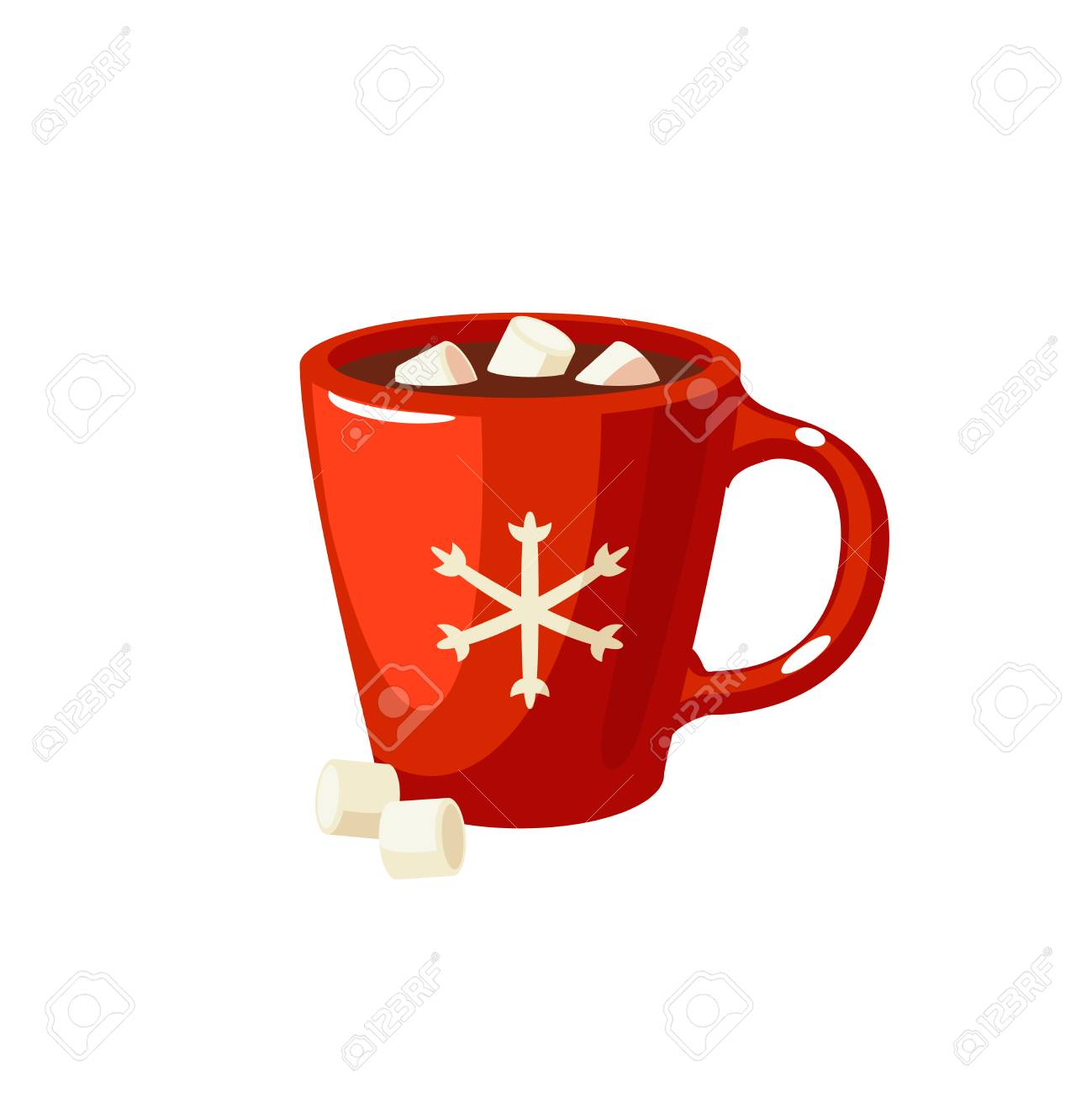 winter dessert beverage cup of hot chocolate with marshmallows rh 123rf com hot chocolate cartoon images hot chocolate cart trike uk