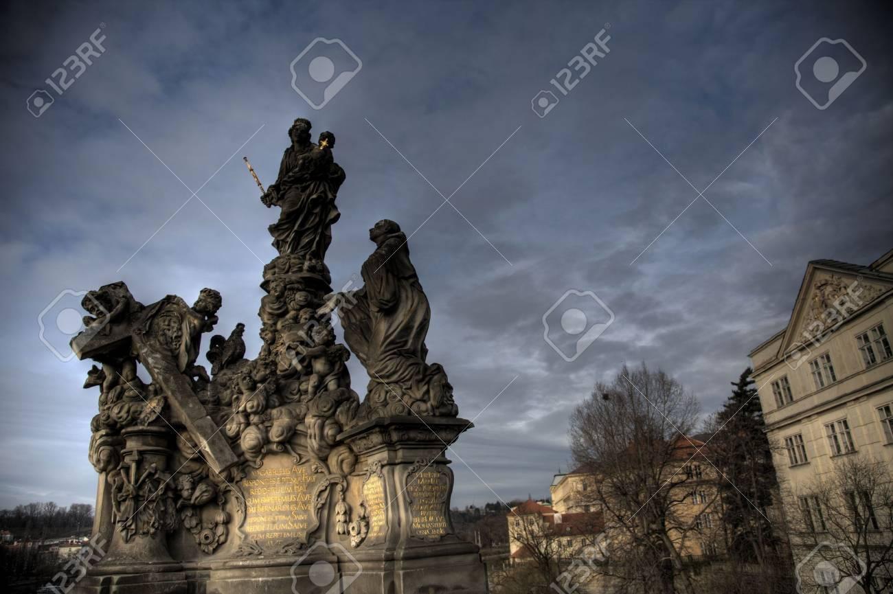 A statue in Prague, The Czech Republic Stock Photo - 2641474