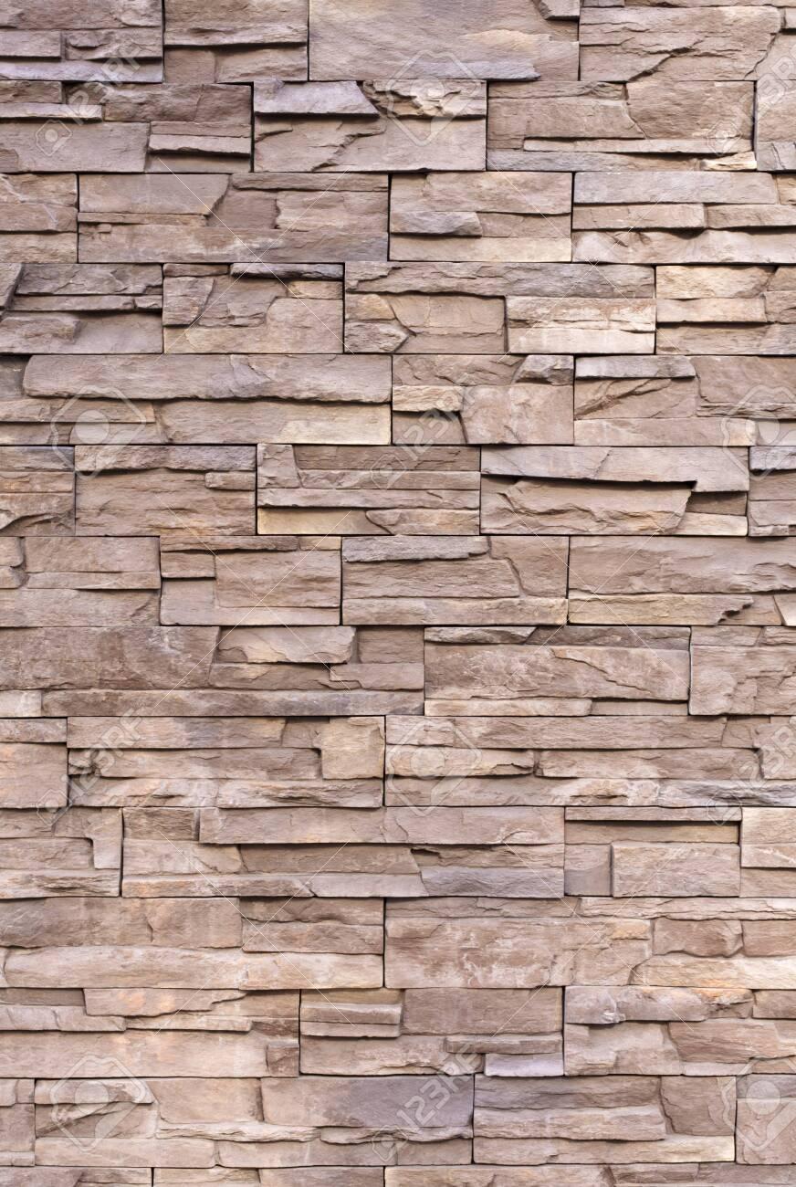 Natural stone wall - 129193869