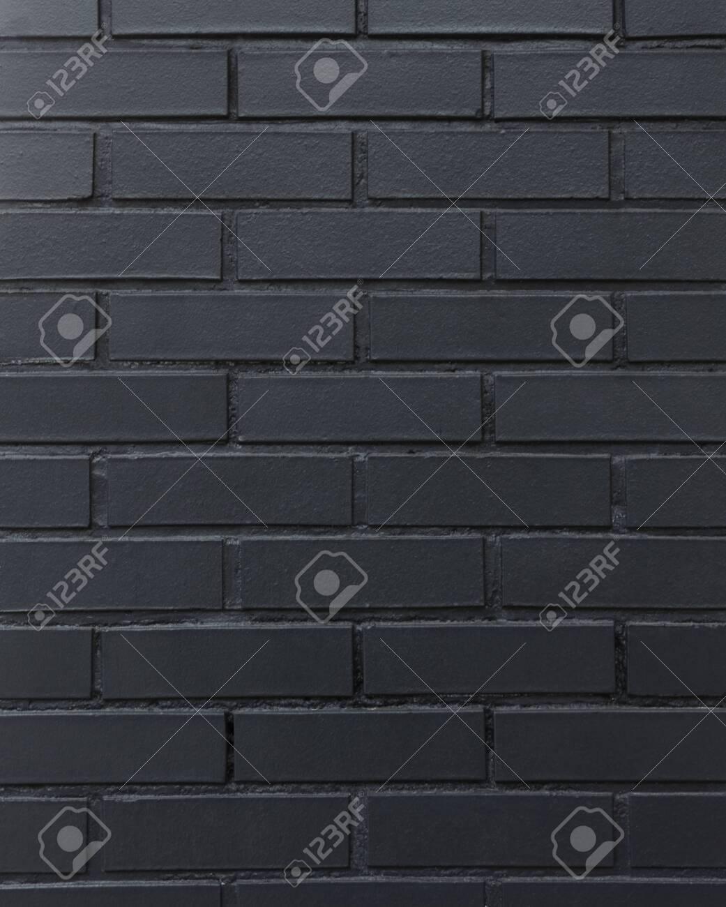 black brick wall background - 129195448