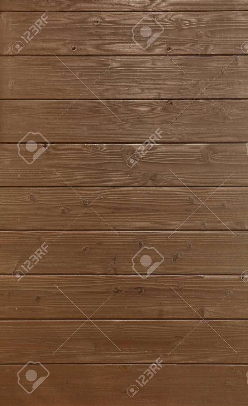 Wall of wooden board - 129195591