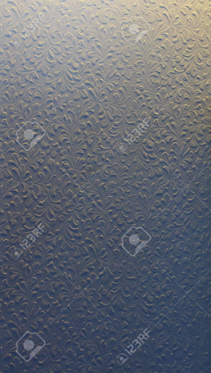 Leaf pattern wall background - 129195594