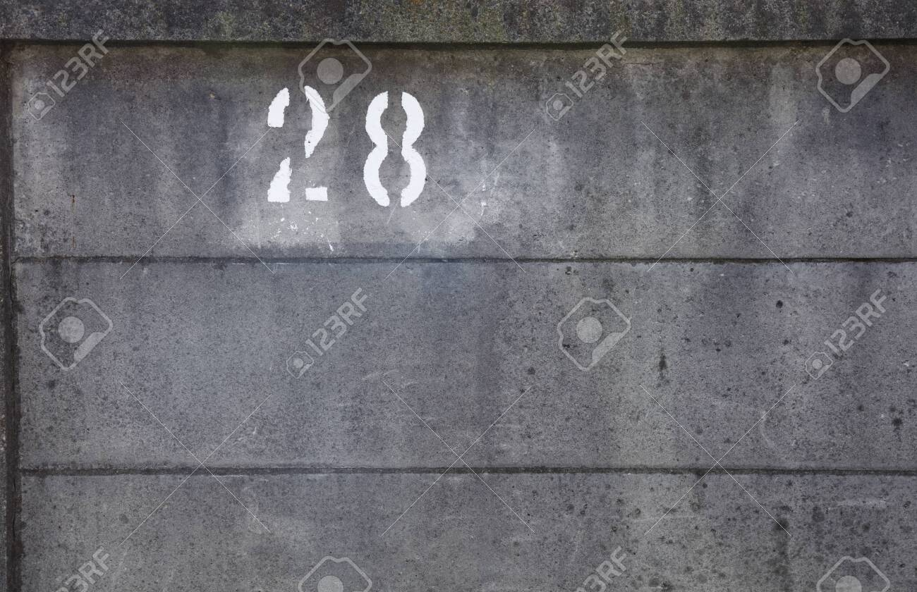 grey Concrete fence - 129195969