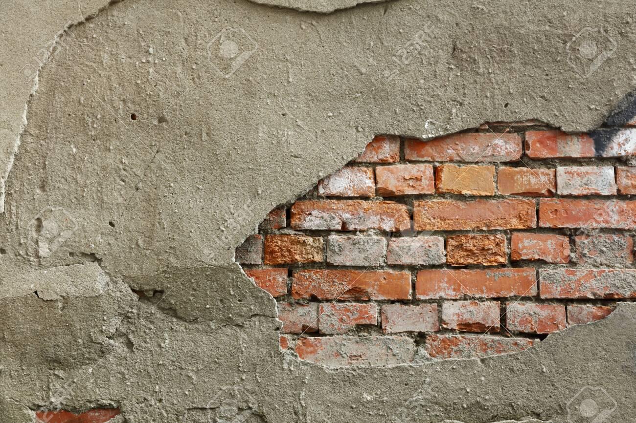 Broken wall background - 129195983