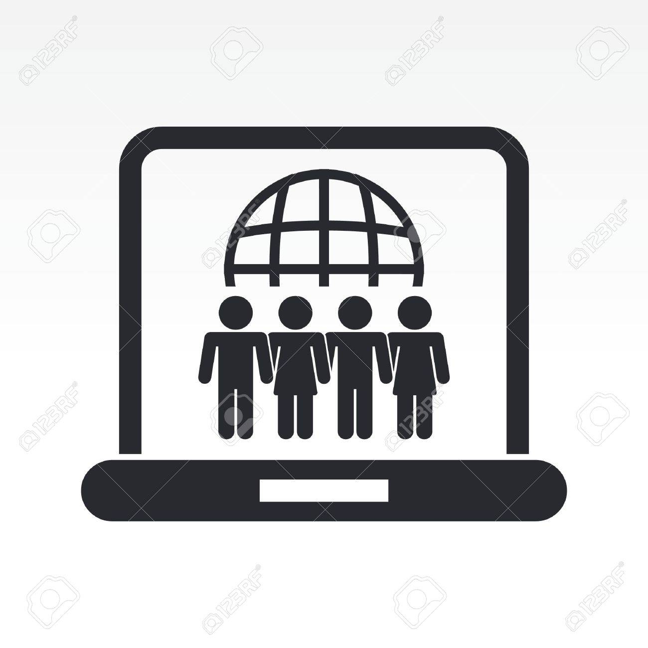 Vector illustration of web social union icon Stock Vector - 10545107