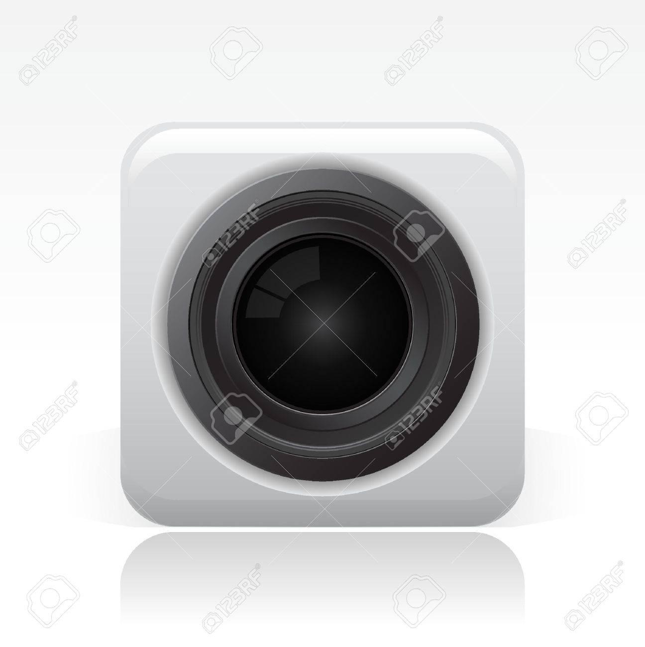 Vector illustration of camera lens Stock Vector - 10545177