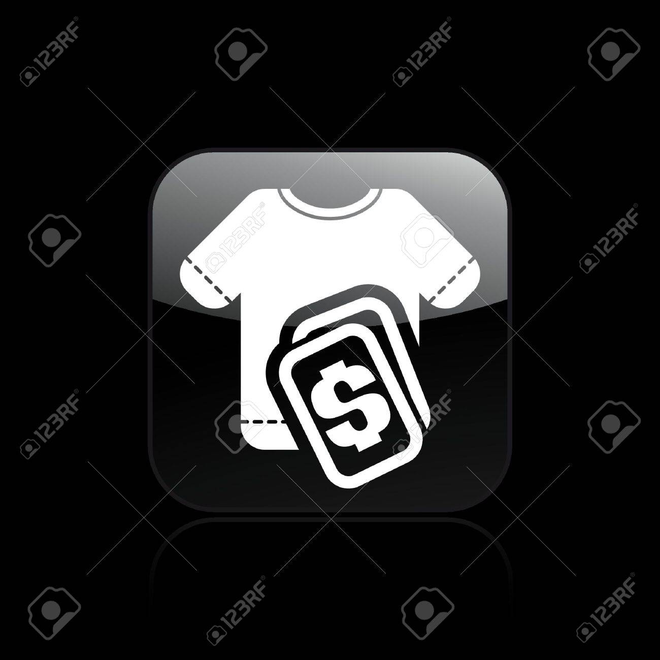 Vector illustration of a icon depicting a t-shirt price Stock Vector - 10545443