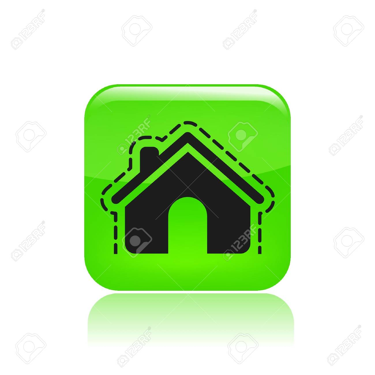 Vector illustration of modern icon depicting a house protection Stock Vector - 10545503