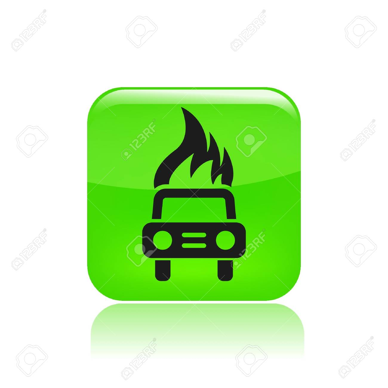 Vector illustration of car burning icon Stock Vector - 12122852