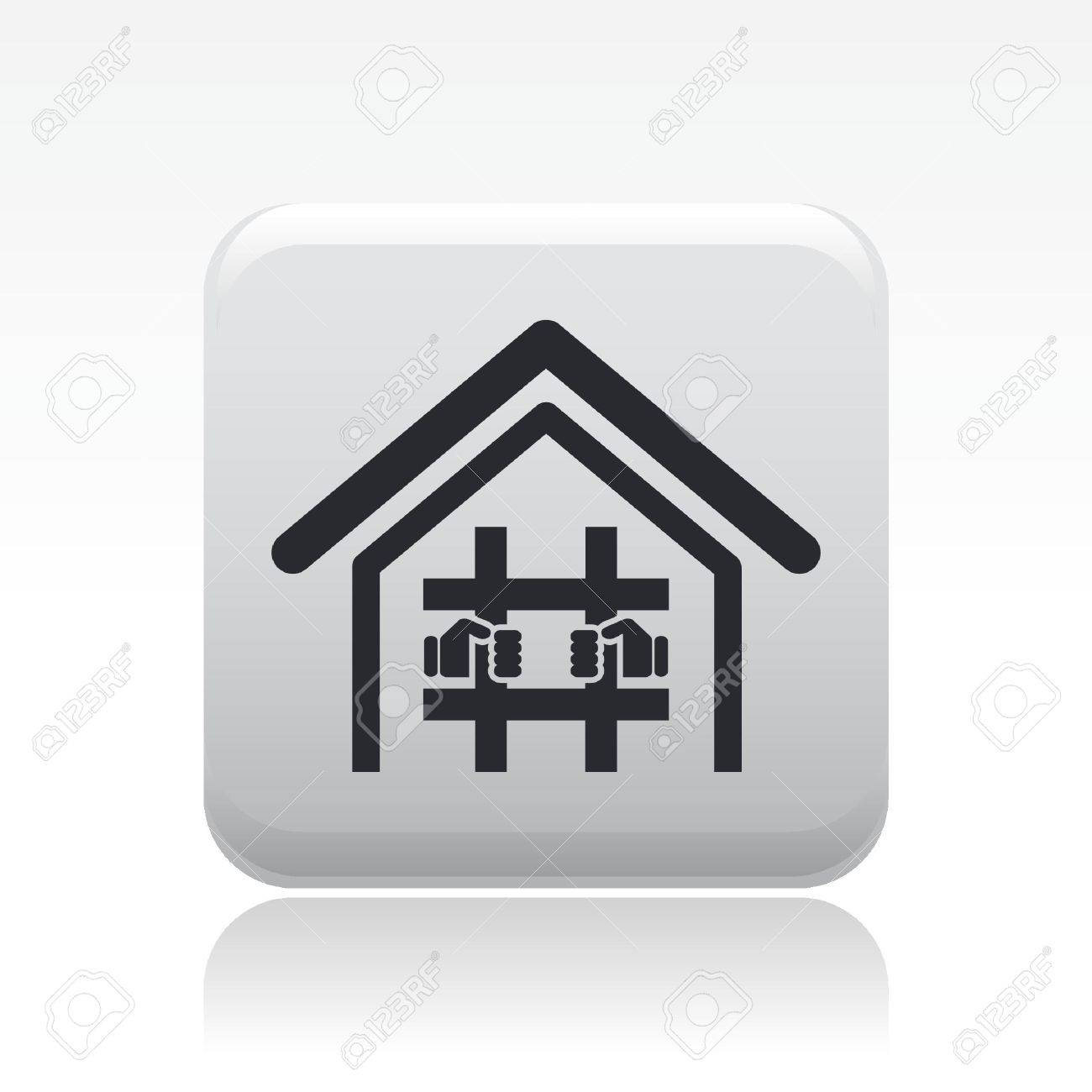 Vector illustration of single isolated prison icon Stock Vector - 12119776