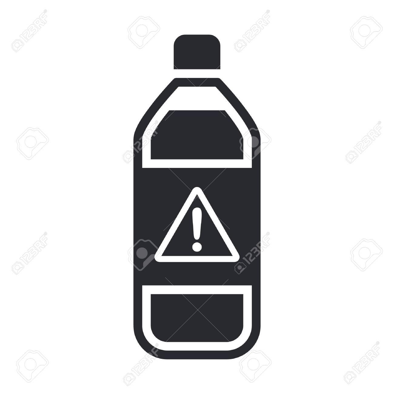 Vector illustration of single isolated dangerous bottle icon Stock Vector - 12119823