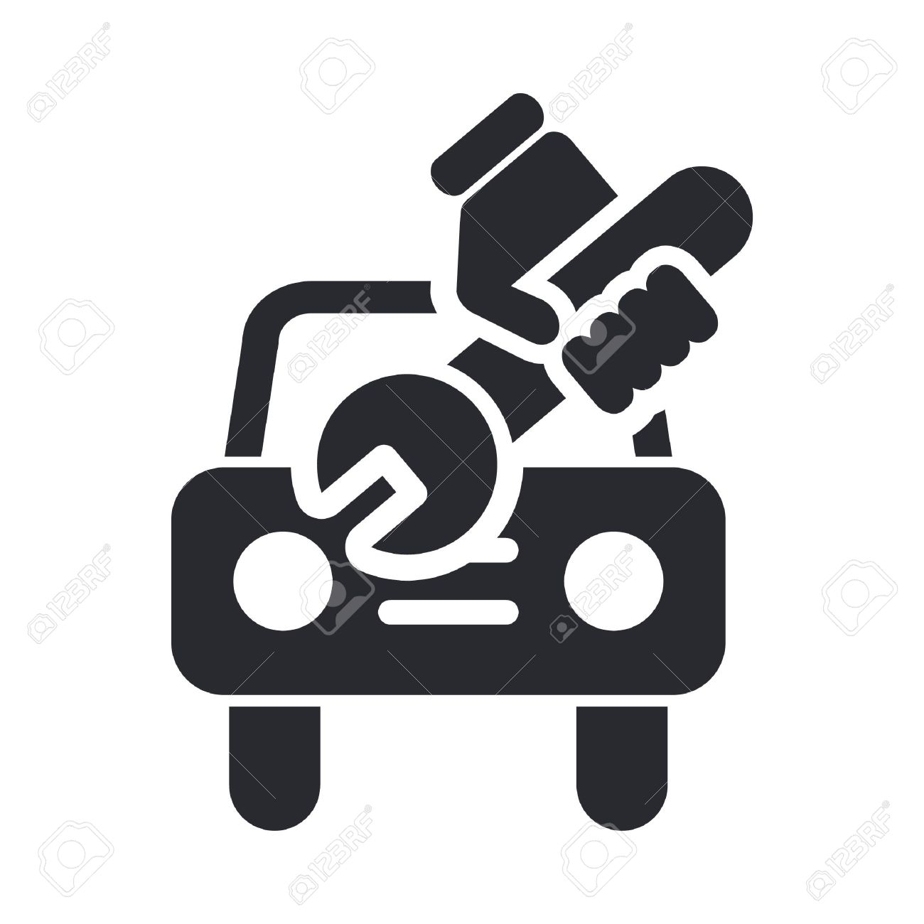 Vector Illustration Of Single Isolated Car Repair Icon Royalty ...