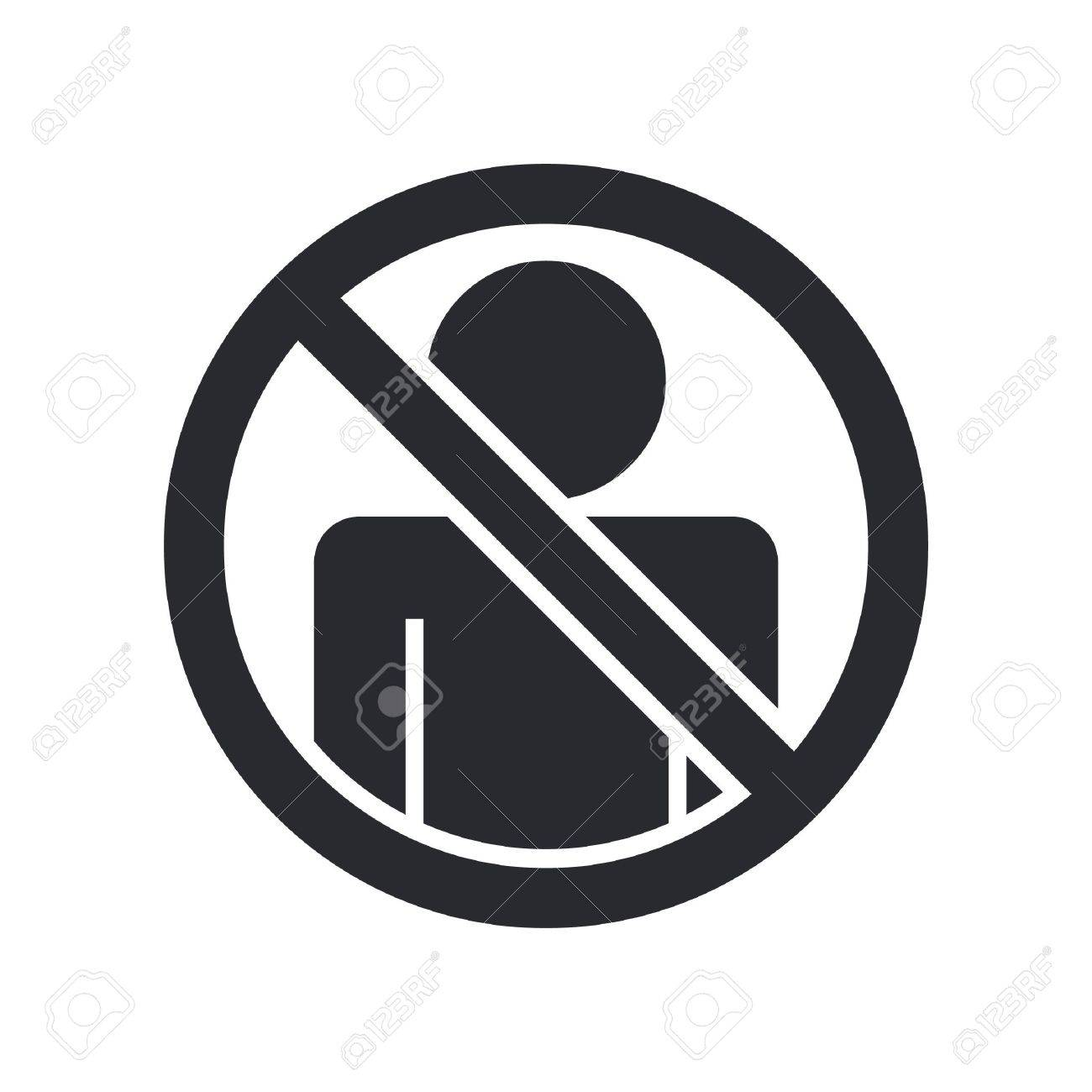 Vector illustration of single isolated access forbidden icon Stock Vector - 12119947