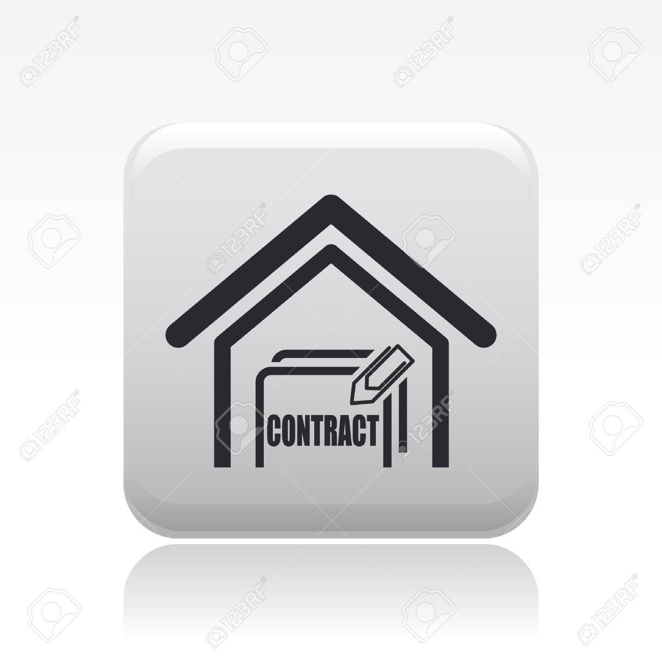 Vector illustration of single isolated house sale icon Stock Vector - 12119785