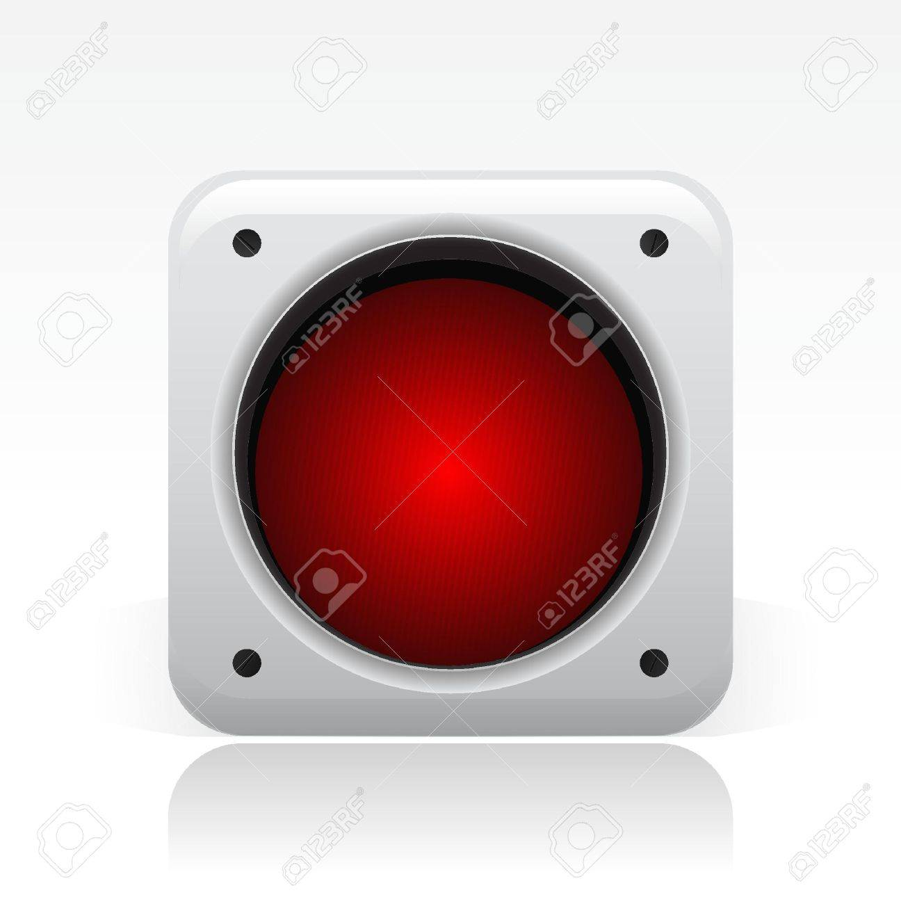 Vector illustration of single isolated traffic light icon Stock Vector - 12119799