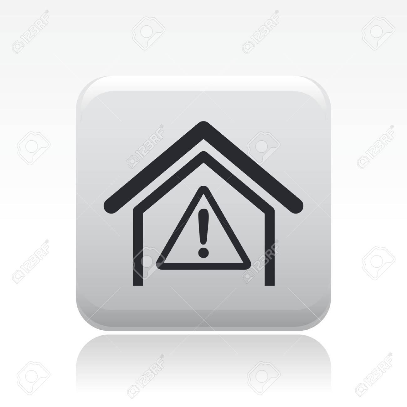 Vector illustration of single danger icon Stock Vector - 12119708