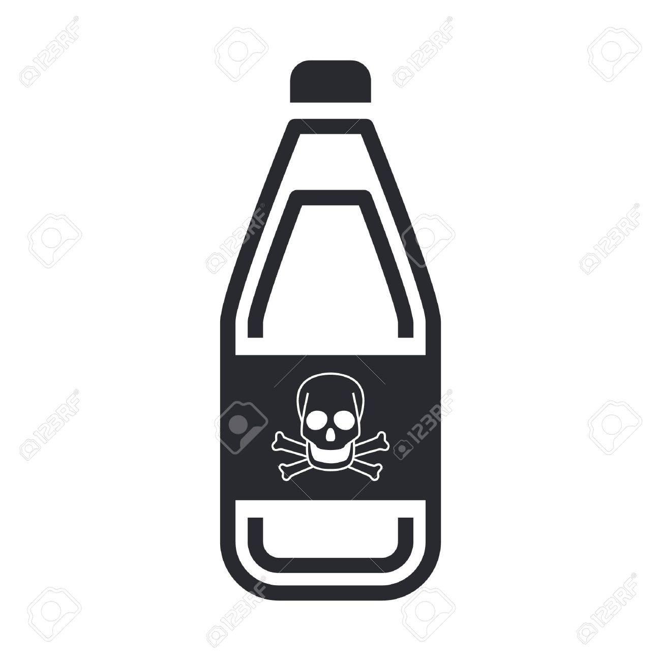 Vector illustration of single isolated dangerous bottle icon Stock Vector - 12119872