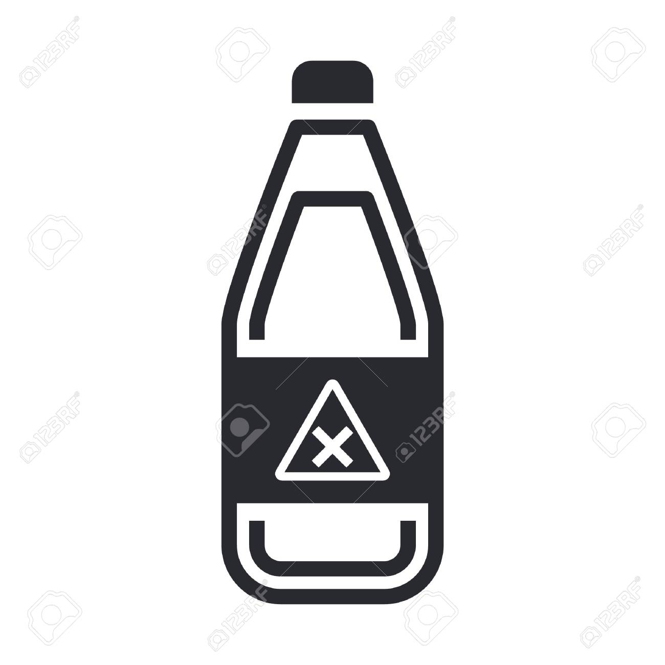 Vector illustration of single isolated dangerous bottle icon Stock Vector - 12119822