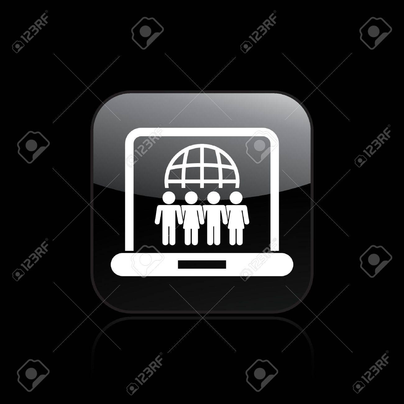 Vector illustration of web social union icon Stock Vector - 12119883