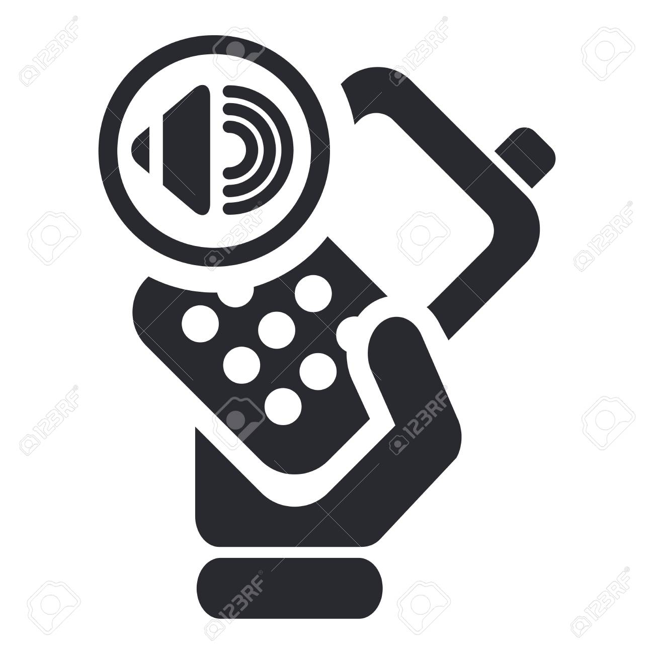 Vector illustration of single isolated phone icon Stock Vector - 12119592