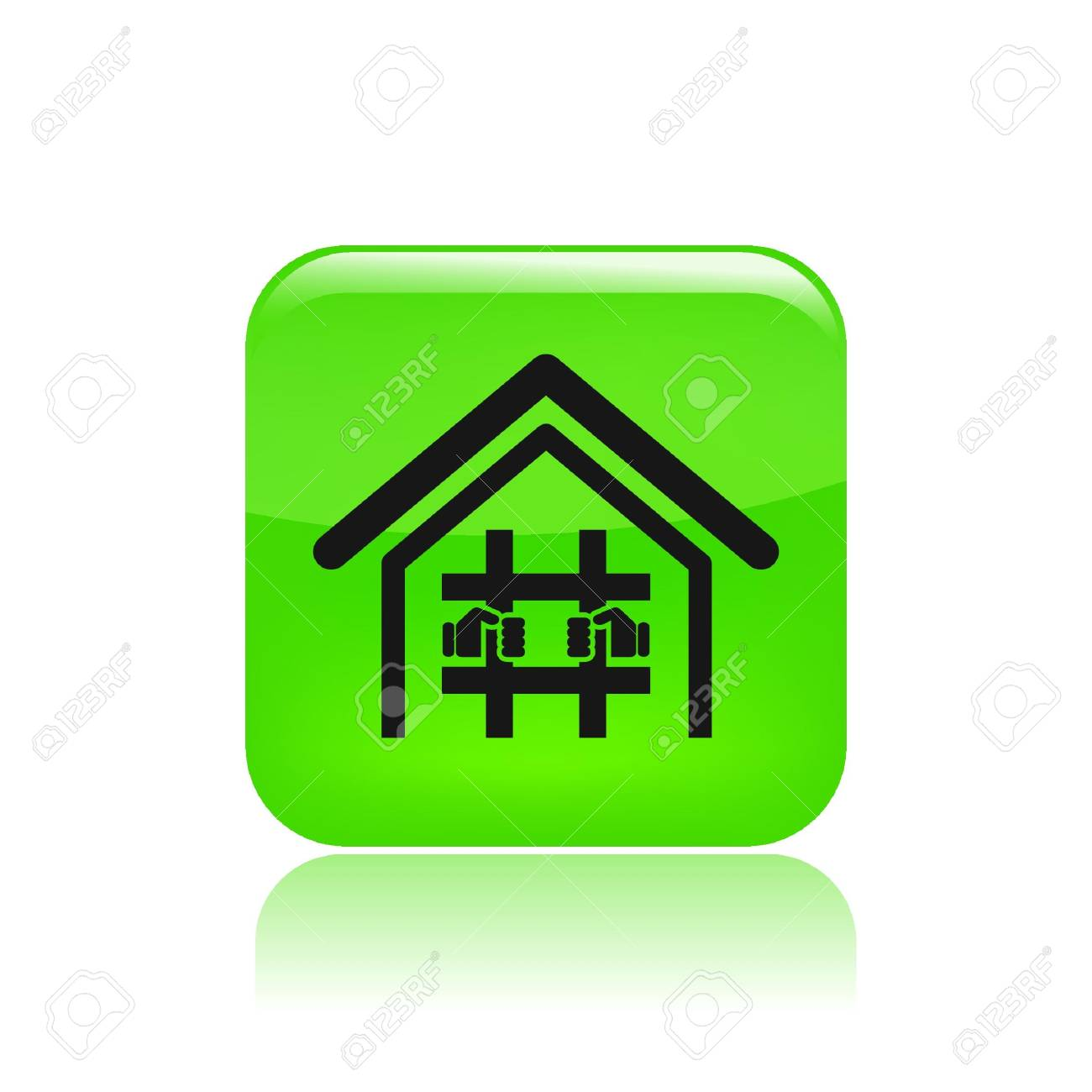Vector illustration of single isolated prison icon Stock Vector - 12129492