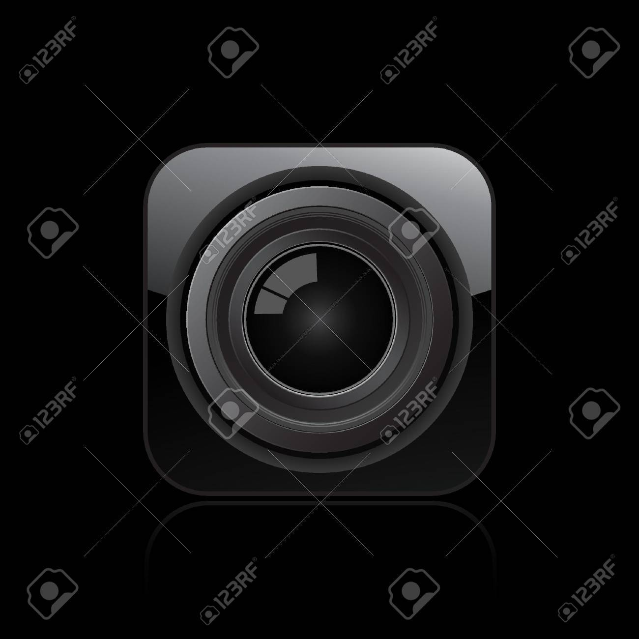 Vector illustration of single isolated camera lens icon Stock Vector - 12121476