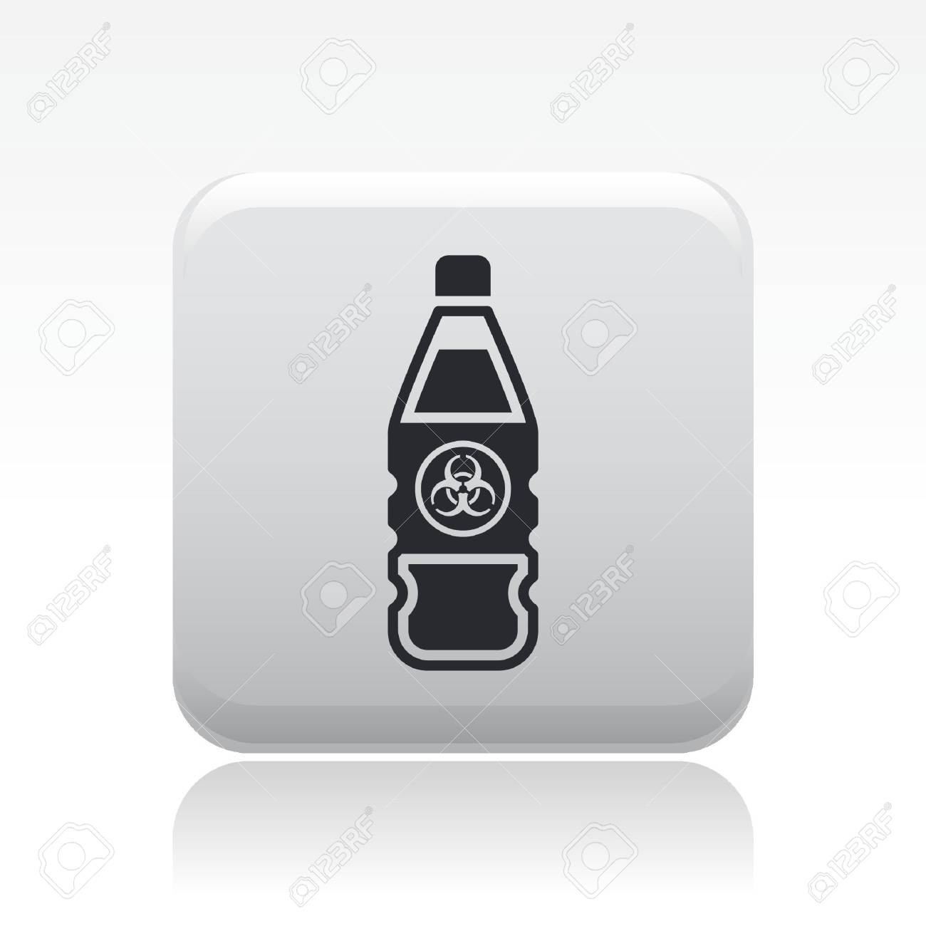 Vector illustration of single isolated dangerous bottle icon Stock Vector - 12127035