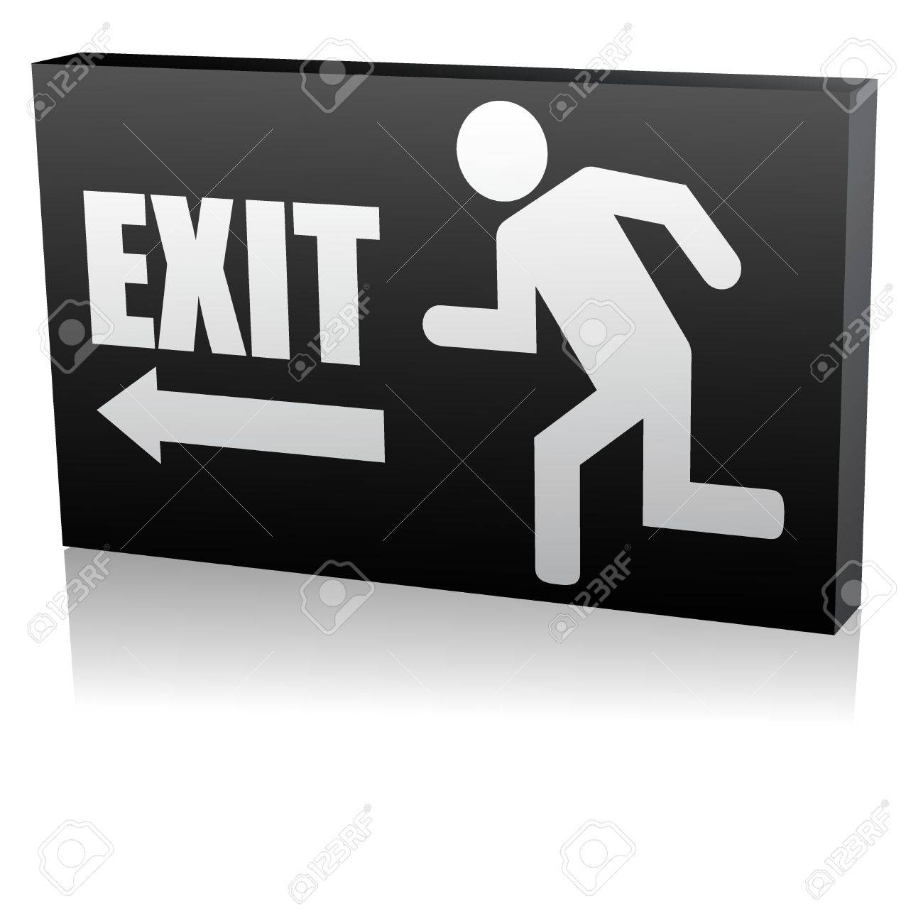 Vector illustration of single isolated security exit  icon Stock Vector - 12121452