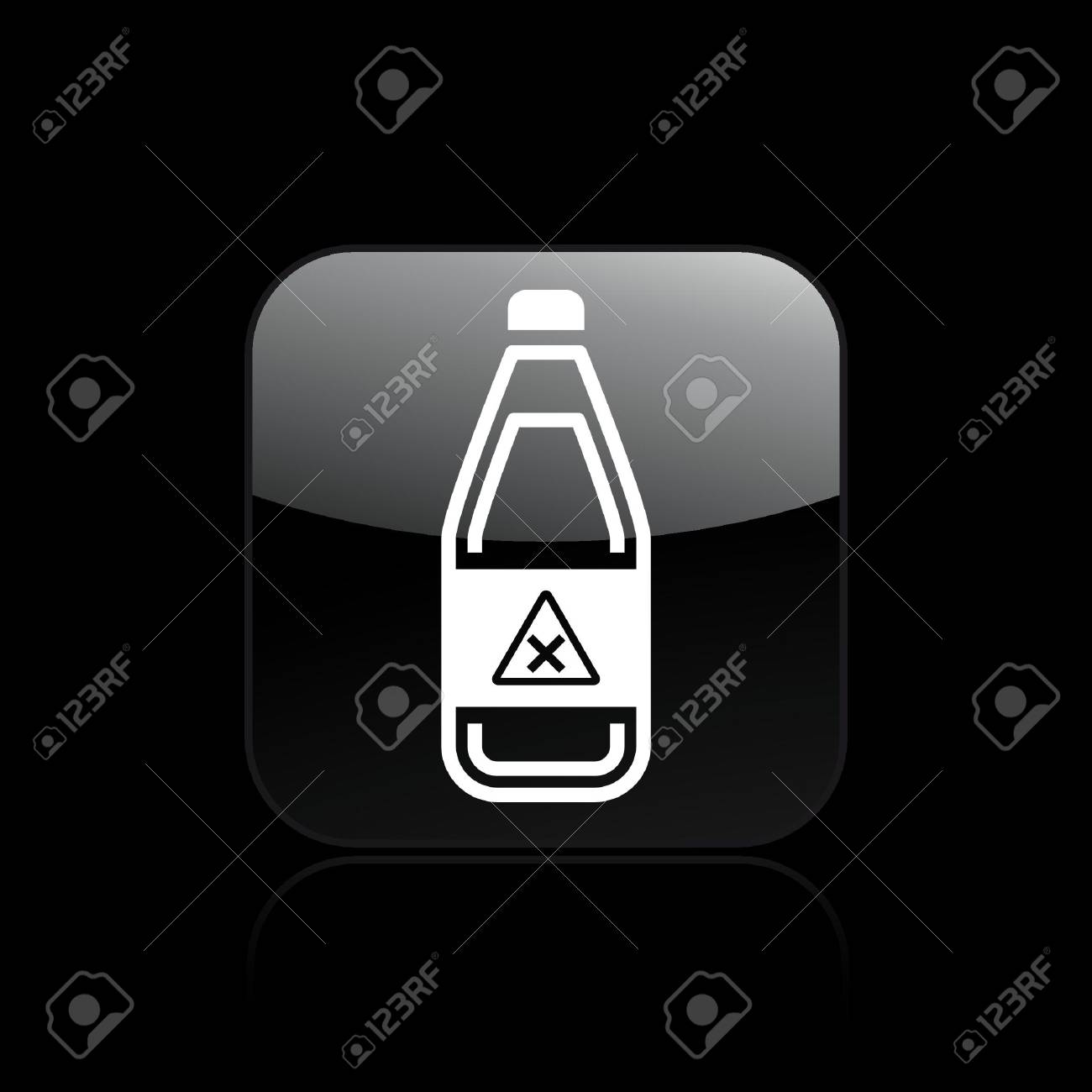 Vector illustration of single isolated danger bottle icon Stock Vector - 12128850